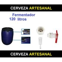 Fermentador Azul Hdpe Alimenticio 120 Litros Cerveza Artesan