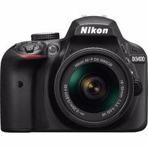 Câmera Nikon Dslr D3400 Com Lente 18-55mm 24.2 Mp Lançamento
