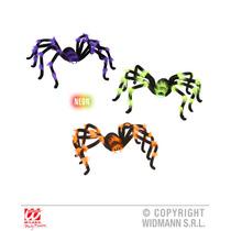 Arañas De Juguete P/halloween Peludas Morada Verde 75cm