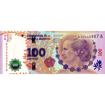 100 Pesos Evita - Serie A 03440987 - Reposición