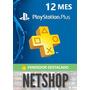 12 Meses Playstation Plus (usa) Código Digital | Netshop
