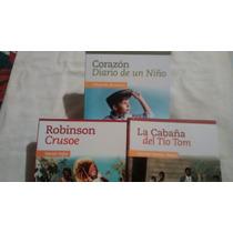 Corazon Diario De Un Niño / Cabña Del Tio Tom / 3 Libros