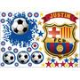 Vinilo Pelotazo + Escudo Fútbol Barcelona Con Tu Nombre