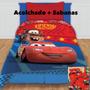 Acolchado + Juego De Sábanas Cars Y Minnie Piñata Disney