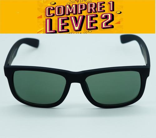 d1ba4ae734498 Óculos Feminino Quadrado Justin Preto Lente Verde Polarizad - R  120,00 em  Mercado Livre