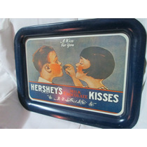 Antigua Charola De Chocolates Kisses De Hersheys