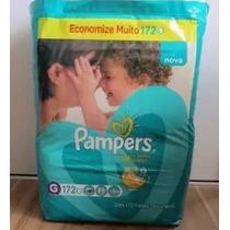 Fraldas Pampers Total Confort 172 Un Tamanho G Pacote Mensal