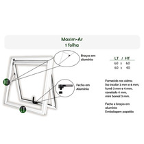 Janelas Em Alumínio Maxim-ar 80lx60a Vidro Mini Boreal 3mm