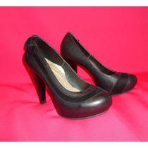Zapato Mujer Plataforma 10 Negro Filo Gamo Talla 36