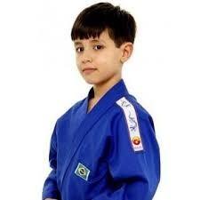 35b35be1b Kimono Judo Infantil Azul Dragao M1 De 7 E 8 Anos - R  149