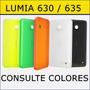 Tapa Trasera Nokia Lumia 630 635, Carcasa Trasera, Ver Color