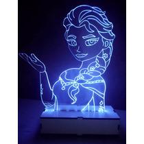 Luminária Led Á Pilha Tema Frozen