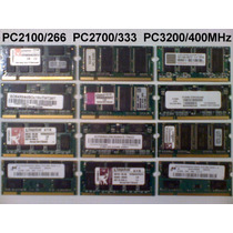 Memorias Laptop Ddr1 Pc-2100/2700 512mb Envío Gratis X Dhl !