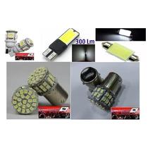 Kit Actualizacio Led Auto Camioneta 12v Led Cob Lupa Premium