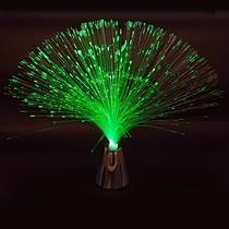 Kit Com 5 Luminária Abajur De Fibra Óptica 3 Cores 8 Fases