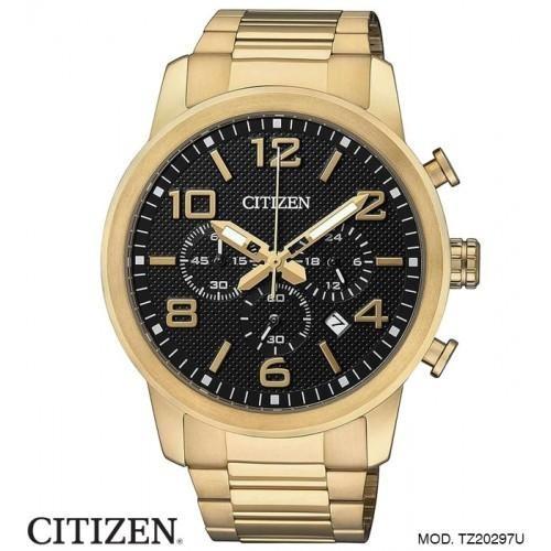 47d7021562e Relógio Citizen Gents Cronógrafo Dourado Tz20297u - R  1.153