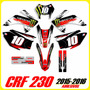 Tuning Motos Honda Crf 230 Modelo 2015 / 2016 Fox Stickers