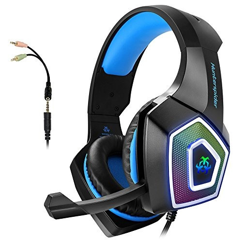 91d18589605 Gaming Auriculares With Mic Para Xbox Uno Ps4 Ordenador Pers -   1