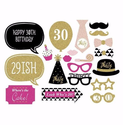 kit decoración fiesta 30 años cumpleaños arreglo mujer - $ 179.00 en