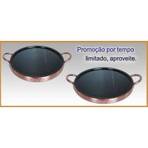 Forma Para Pizza Kit Com 2 Formas De Pedra Sabão 23 Cm Diâm