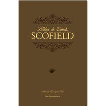 Bíblia De Estudo Scofield Luxo Marrom + De 1700 Notas
