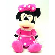 Boneco Pelucia Minnie Rosa Pink Grande 55cm Antialergico