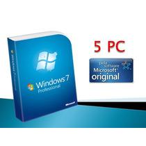 Windows 7 Professional Retail 5 Pc 32/64 Bits. Fact