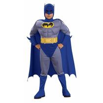 Disfraz Batman Clasico Animado Musculoso De Niño Original