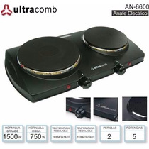 Anafe Eléctrico Ultracomb 2 Hornallas Termostato Bajo Consum