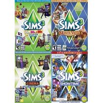 Pacote Com 4 Expansões Originais E Lacradas The Sims 3