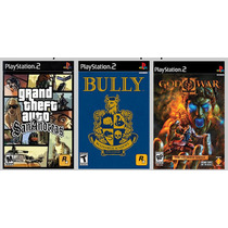 Patch Bully+ Gta+ God Of War 2 Para Ps2 Desbloqueado