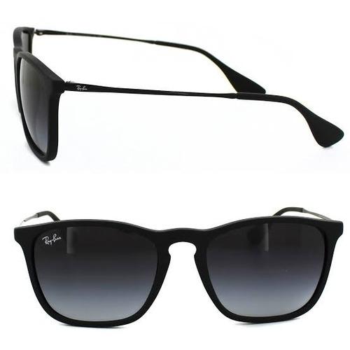 230366306f97b Óculos Ray Ban Cris Rb4187 Preto Com Degradê - R  289,49 em Mercado Livre