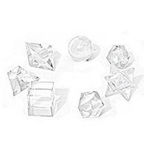 Set De Sólidos Platónicos Cuarzo + Merkaba + Esfera Calidad