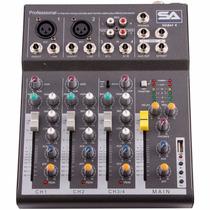 Mezclador De Sonido Consola Con Interfaz Slider4