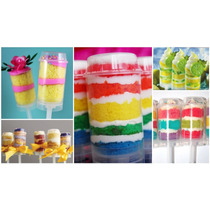*5 Vasitos Domo Push Up Cake Pushcake Cupcake Fondant Royal*