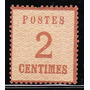 Alsace Lorraine Antiguo Sello De 2 Centimes Ivert Nº 2