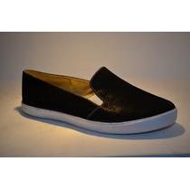 Zapatos Corte Vans Negro Damas