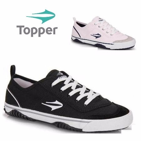 20% Off Tênis Topper New Casual Iii - Preto Ou Branco - R  82 554e98c6be070