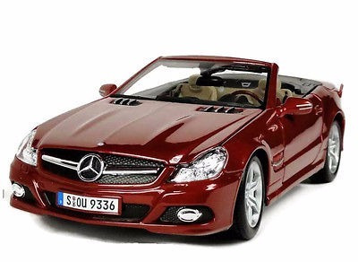 Great Miniatura Mercedes Benz Sl 550 Vermelha 1:18 Maisto