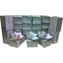 Zapatillas De Casa Bordadas Y Con Velcro Ref. Vlx