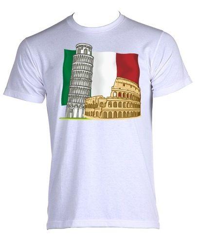 4d934bbc54 Camiseta Italia Italy Bandeira Mapa Map Viagem Turismo 03 - R  35