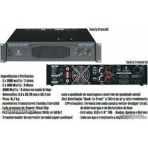 Locação Potência Amplificador Behringer Ep 4000 Ep4000 220v