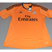 Jersey Real Madrid 2013-14 Tercera Equipación Naranja