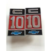 Par Emblema Da C10 Placa Do Para-lama Kit Com 02 Placas