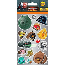 Sandylion Angry Birds Star Wars Stickers Estándar, 4-hoja