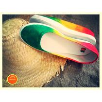 Zapatillas Artesanales - Chata Rasta - Pintado A Mano