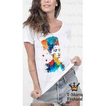 Camiseta T- Shirt Atriz Famosa Feminina Personalizada Blusa