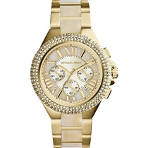 Relógio Michael Kors Mk5902 Ouro Strass Original Garantia
