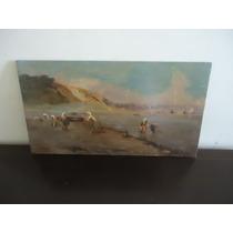 Quadro Antigo Pintura Europeia De Leopoldo Galeota.,osm.