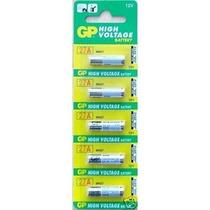 Cartela 5 Mini Pilhas Alcalinas 12v A27 27a Gp Fina